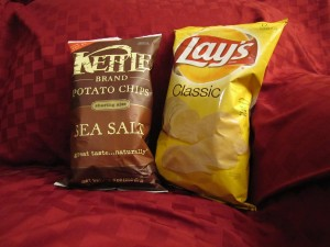 Bags of Delicious Kettle and Lay's Potato Chips