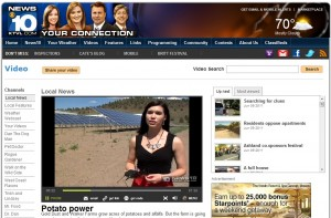 Lexi Crawford discussing Gold Dust's solar initiative on KTVL