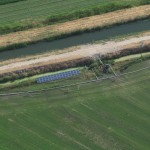 The McVay Irrigation Pump Solar Station from above