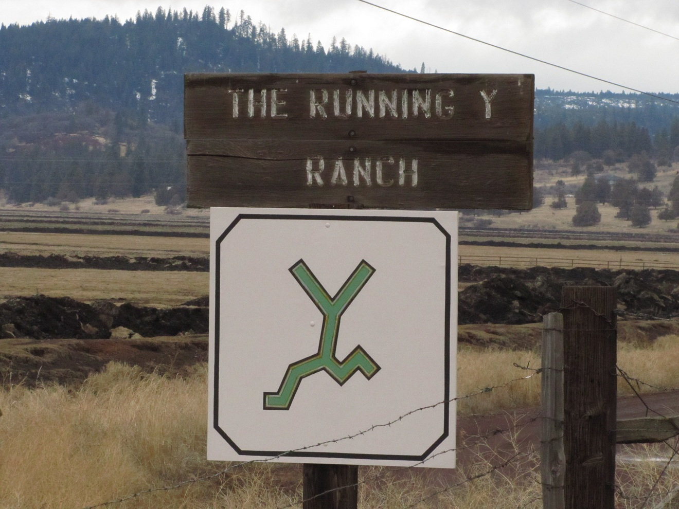 Sign at the Running Y Ranch.