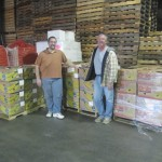 Richard Wright with Rick with a delivery of supplies from South Oregon Outreach Foundation