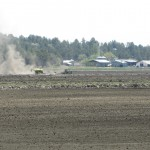 Running Y Ranch field being planted with grain.