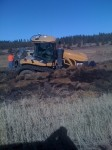 Cat 865 tractor stuck at the Running Y ranch.