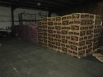 Pallets of potatoes awaiting delivery to Southern Oregon Outreach Foundation and the Klamath Lake Counties Food Bank from Gold Dust Potato Processors.